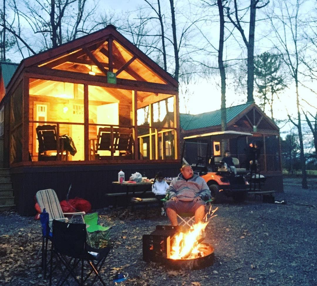 Glamping In A Cabin At Yogi Bear S Jellystone Park In Luray Va Jellystone Park Luray Yogi Bear Jellystone Park