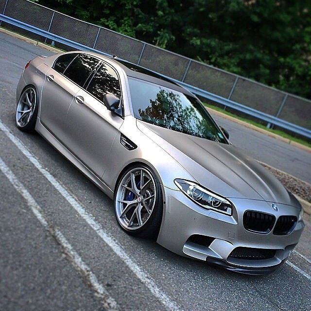 BMW M5 Matte Silver Drooling
