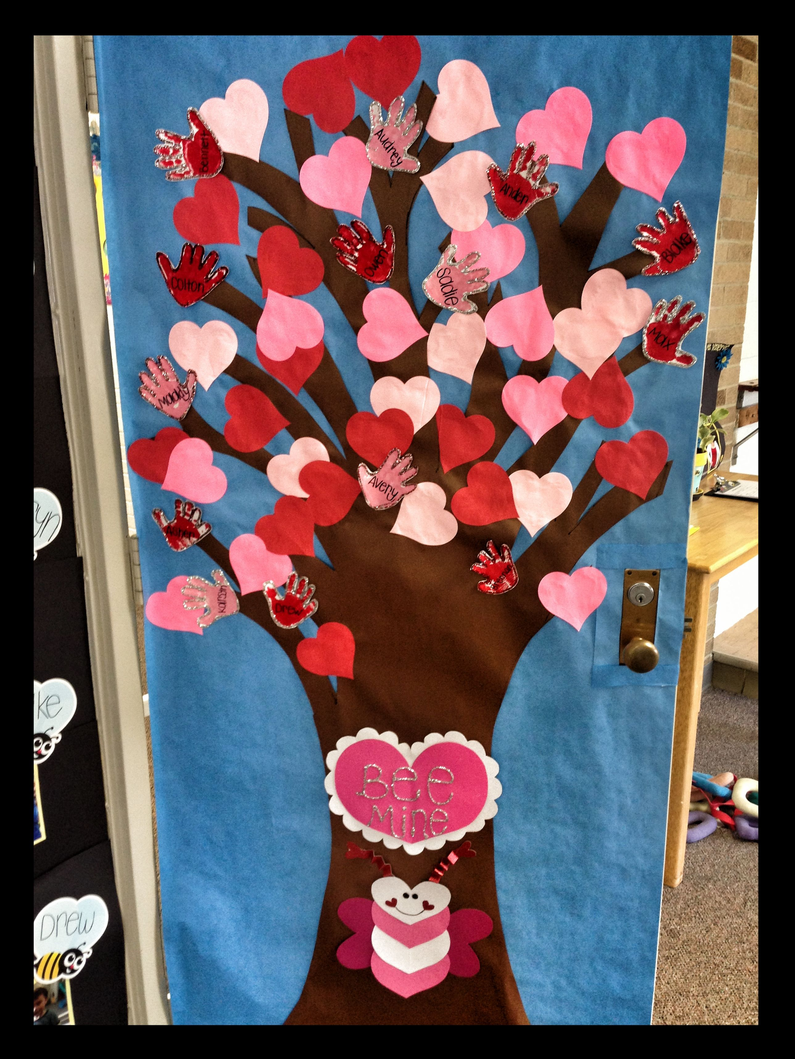 This is a cute idea for a Valentine\'s Day classroom door display ...