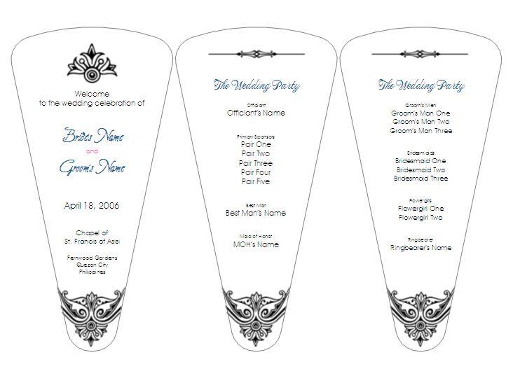 DIY Wedding Programs Free Templates Pre Designed Program Fan By Aylee