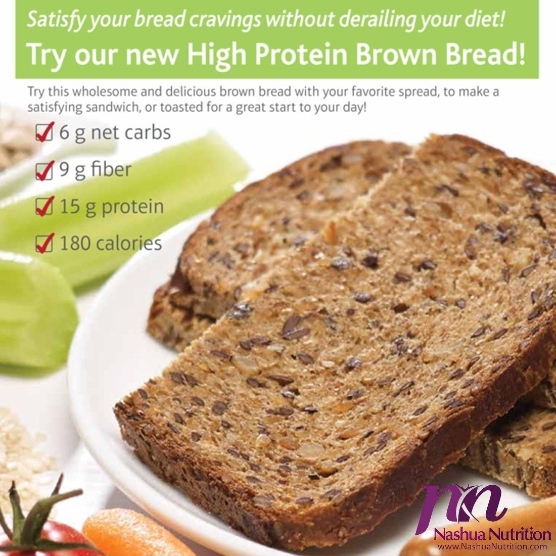 ProtiThin High Protein Brown Bread 15g Protein High Fiber