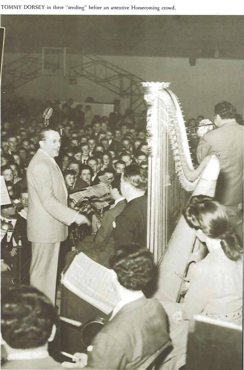 Tommy Dorsey Orchestra performed at Mac Court for 1942 Homecoming dance.  From the 1943 Oregana (University of Oregon yearbook).  www.CampusAttic.com