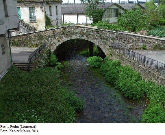 Puente de Piedra sobre el río Bao en Lorenzana Lugo Galice - bao de piedra