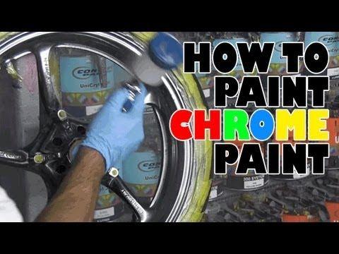 How to paint chrome paint | custom paint | Chrome spray
