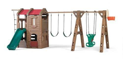 "88.5"" x 201"" Adventure Lodge Play Center Swing Set"