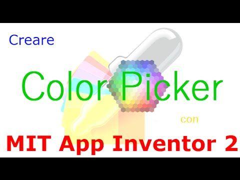 MIT App Inventor 2 ITA Tutorial 54 ColorPicker App