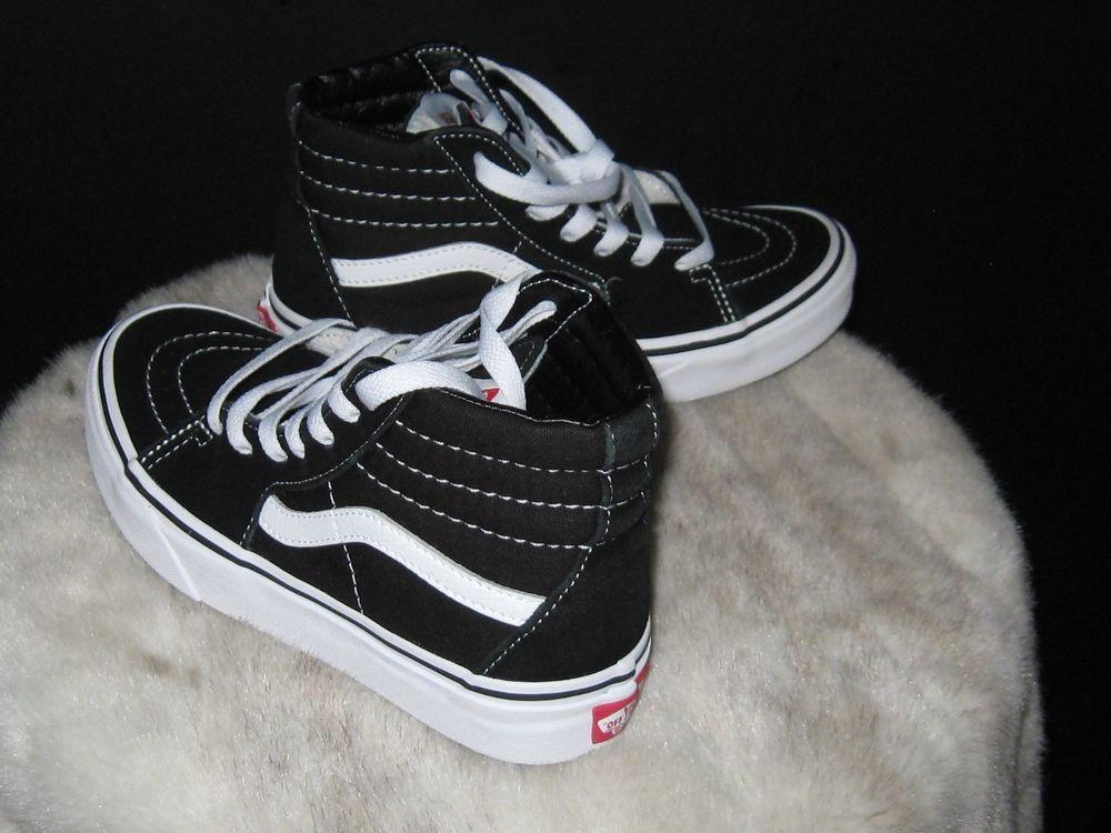 huge discount 23aa7 77b88 Boys Vans Sk8-Hi Pro Canvas Suede High Top Skate Sneakers Sz 1.5 Black