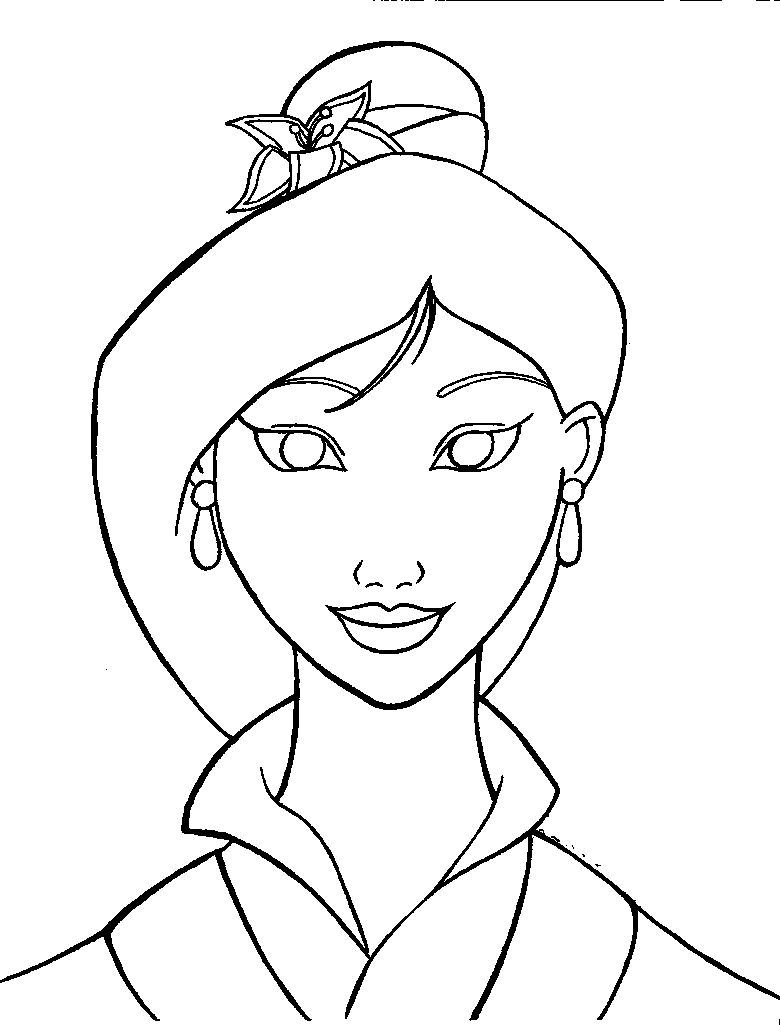 Mulan Graceful | Mulan Coloring Pages | Pinterest