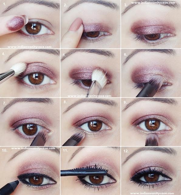 Indian Vanity Case 2-in-1 Eye Makeup Tutorial ~ Metallic Eyes amp V-Kohl Eyeliner -