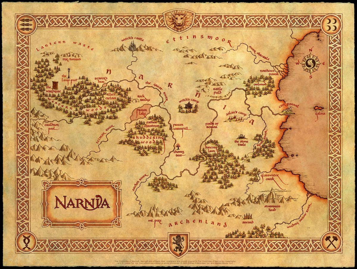 Map Of Narnia Narnia Juliste