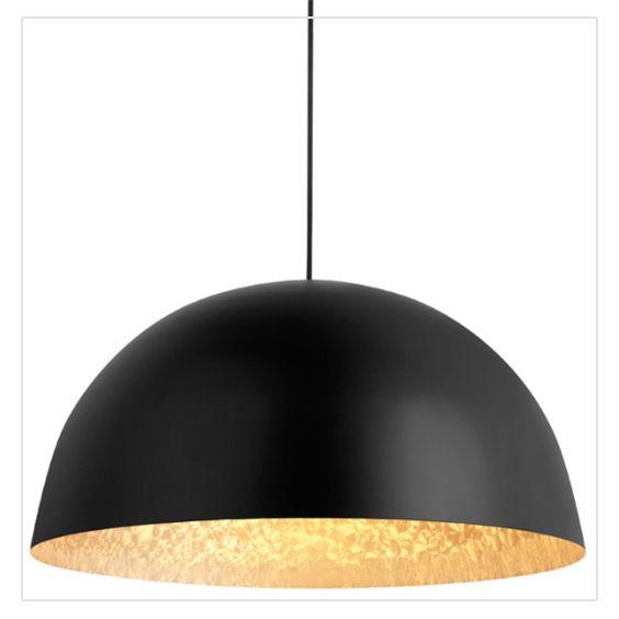 Suspension Colours Kapsel Noir Dore L 45 X H 22 Cm Luminaire Suspendu Luminaire Plafond Luminaire
