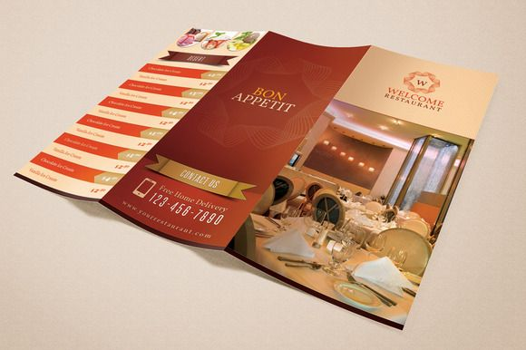 Welcome Restaurant Menu Card Pack by Saptarang on Creative Market - hotel brochure template