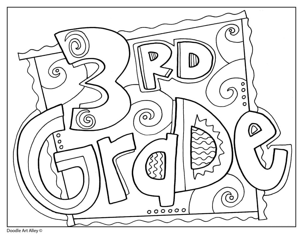 Grade Signs Classroom Doodles School Coloring Pages Back To