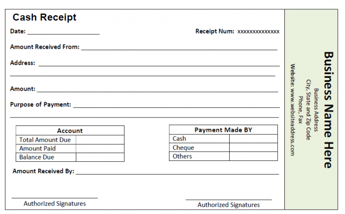 Cash Receipt Template  Receipts    Receipt Template