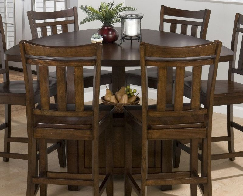 Triangle Dining Set Jofran Boynton Brown 54x54 Triangle Counter Height Table