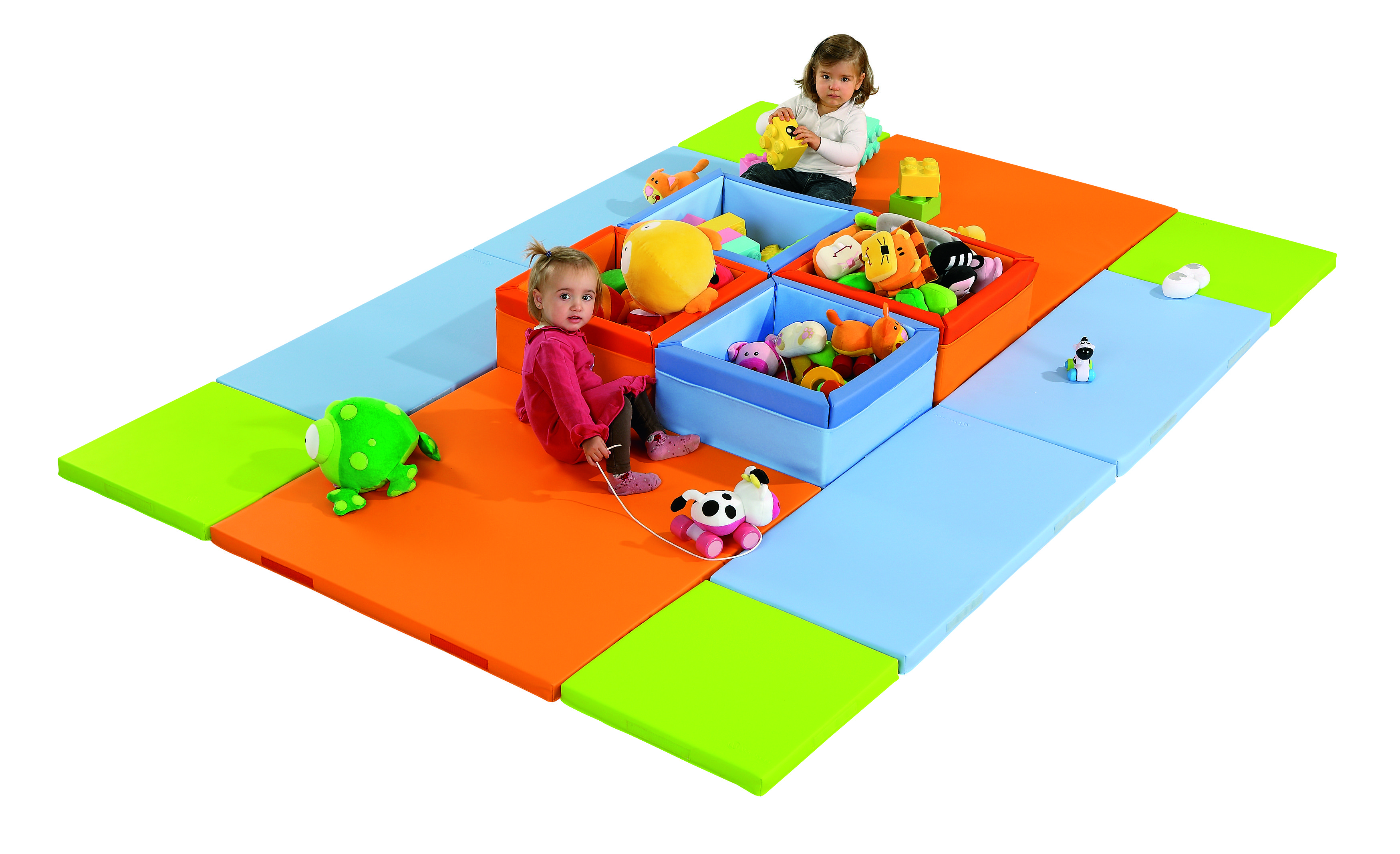 Maxi Island Kit From Wesco This Kit Consists Of 14 Pieces In Total 4 Mosaic Containers 10 Mats Let Your Tot Explore In A Safe But Playroom Wesco Fun