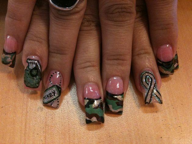 Army Nails 3 Nail Art Pinterest Army Nails Army Nail Art