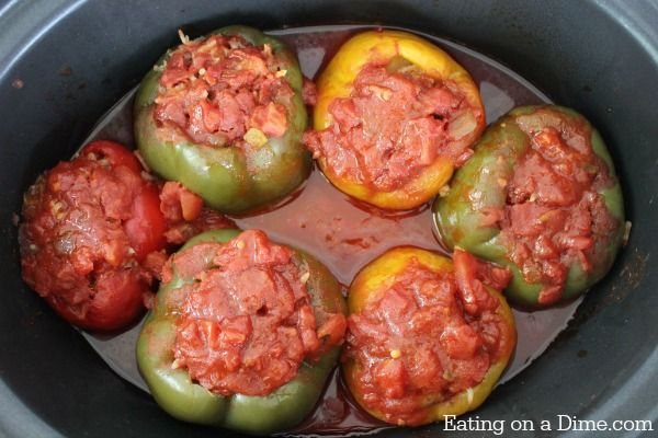 Crock Pot Stuffed Peppers Recipe Stuffed Peppers Crock Pot Recipe Recipe Slow Cooker Stuffed Peppers Crockpot Stuffed Peppers Stuffed Peppers