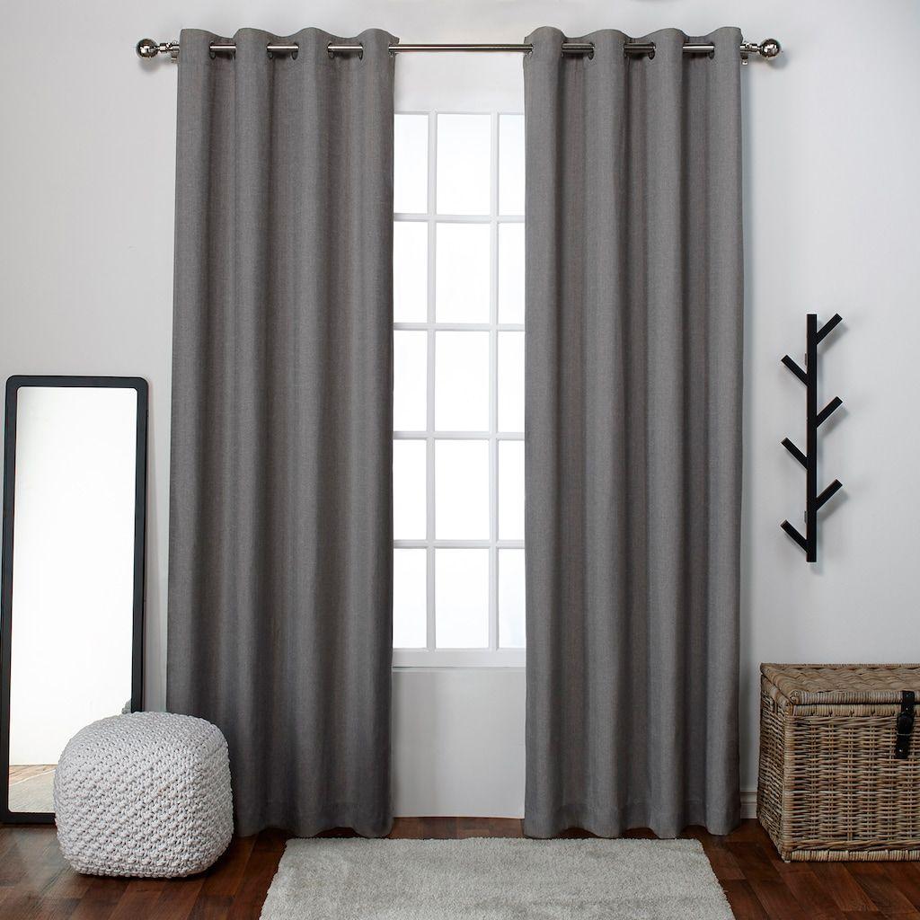 Grommet Top Window Curtains Black