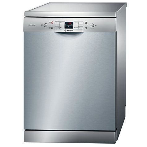 Bosch SMS40A08GB Freestanding Dishwasher, Stainless Steel