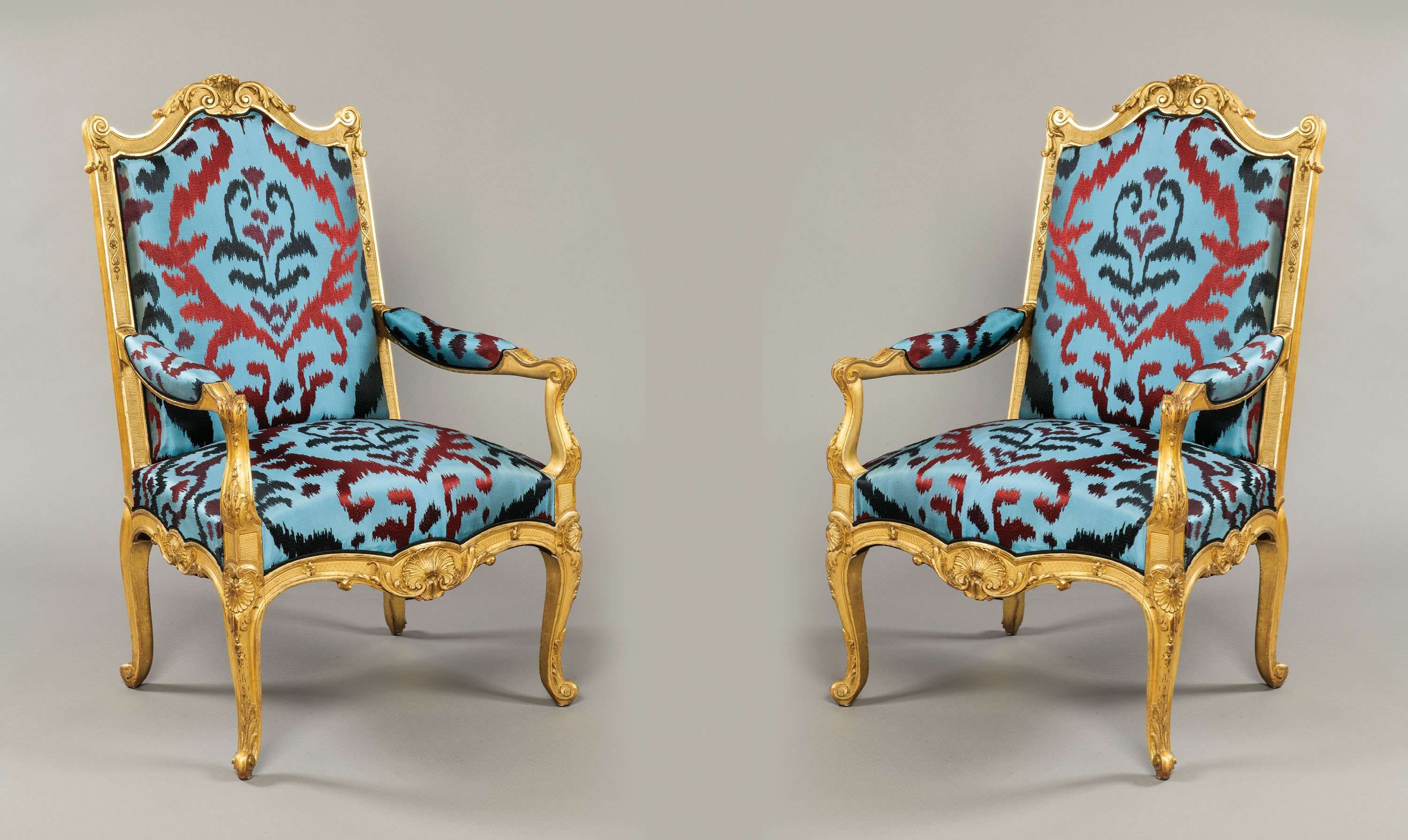 a pair of giltwood antique french armchairs chairs myo