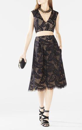 Tyrah Lace Cutout Two-Piece Dress