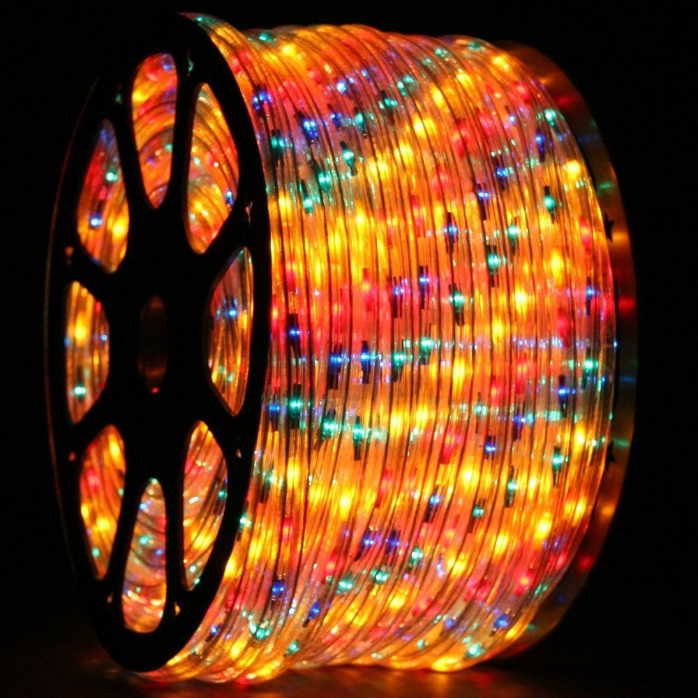 Led Rope Light Multicolored 1 2 Inch 150 Ft Led Rope Lights Led Rope Rope Light