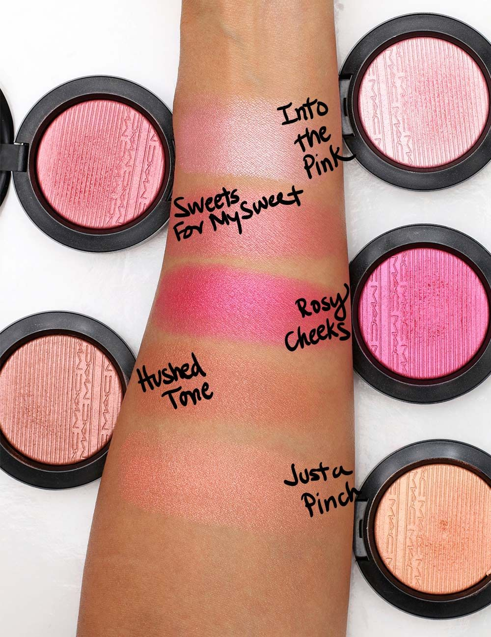 mac extra dimension blush swatches 1 | Beauty | Pinterest ...