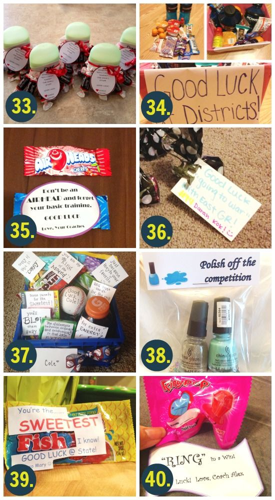 100 Good Luck Gifts And Card Ideas From The Dating Divas Good Luck Gifts Dance Team Gifts Luck Gift
