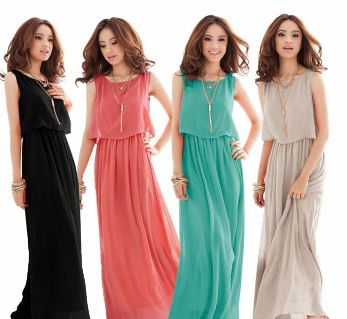 Robe avec layers au différentes couleurs