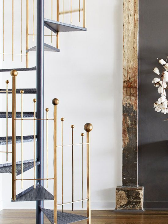 Edgy modern loft staircase from Atlanta Homes & Lifestyles on Thou Swell  @thouswellblog