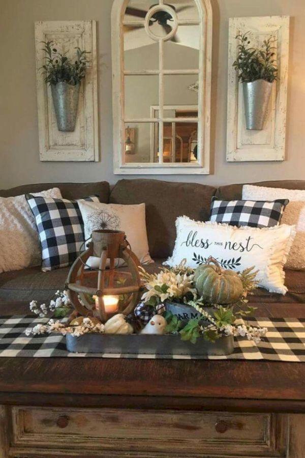 Photo of Beautiful Rustic Farmhouse Living Room Decor Ideas 3 #living…