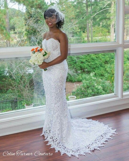 Custom Made Lace Wedding Gown. Atlanta-Georgia Couture