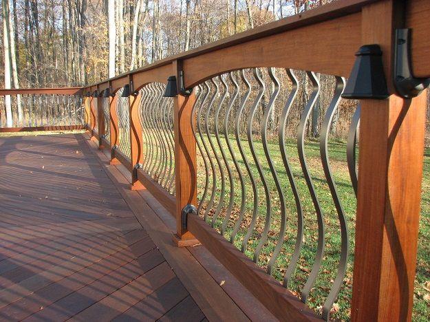 Best Arched Balusters Deck Railing Deck Railings Deck 400 x 300
