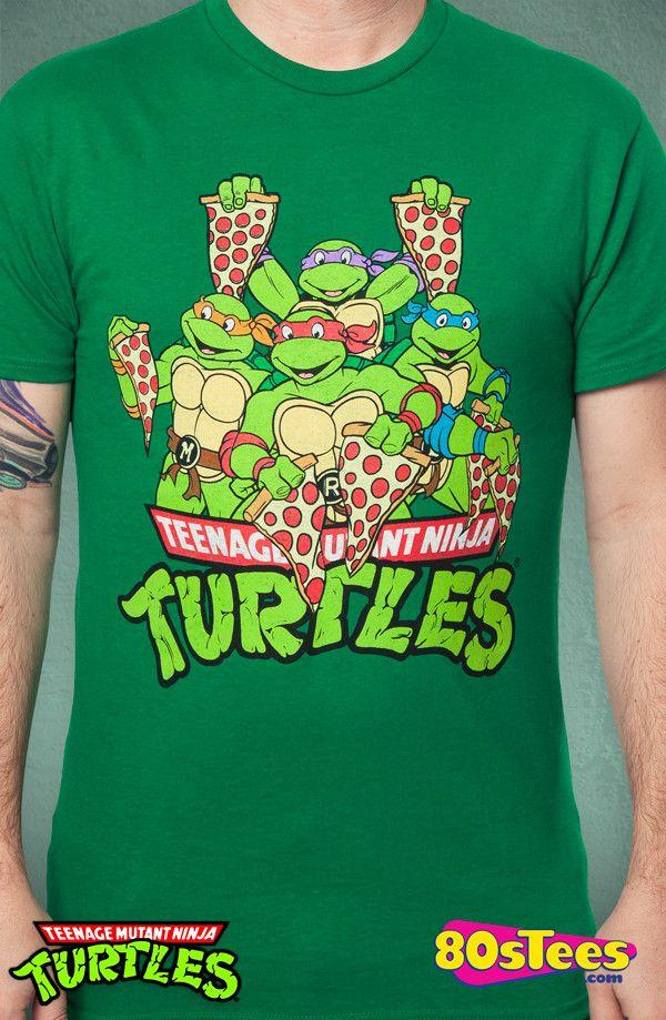 c239ebfde Pizza Slices Ninja Turtle T-Shirt: Ninja Turtles Mens T-Shirt   New ...