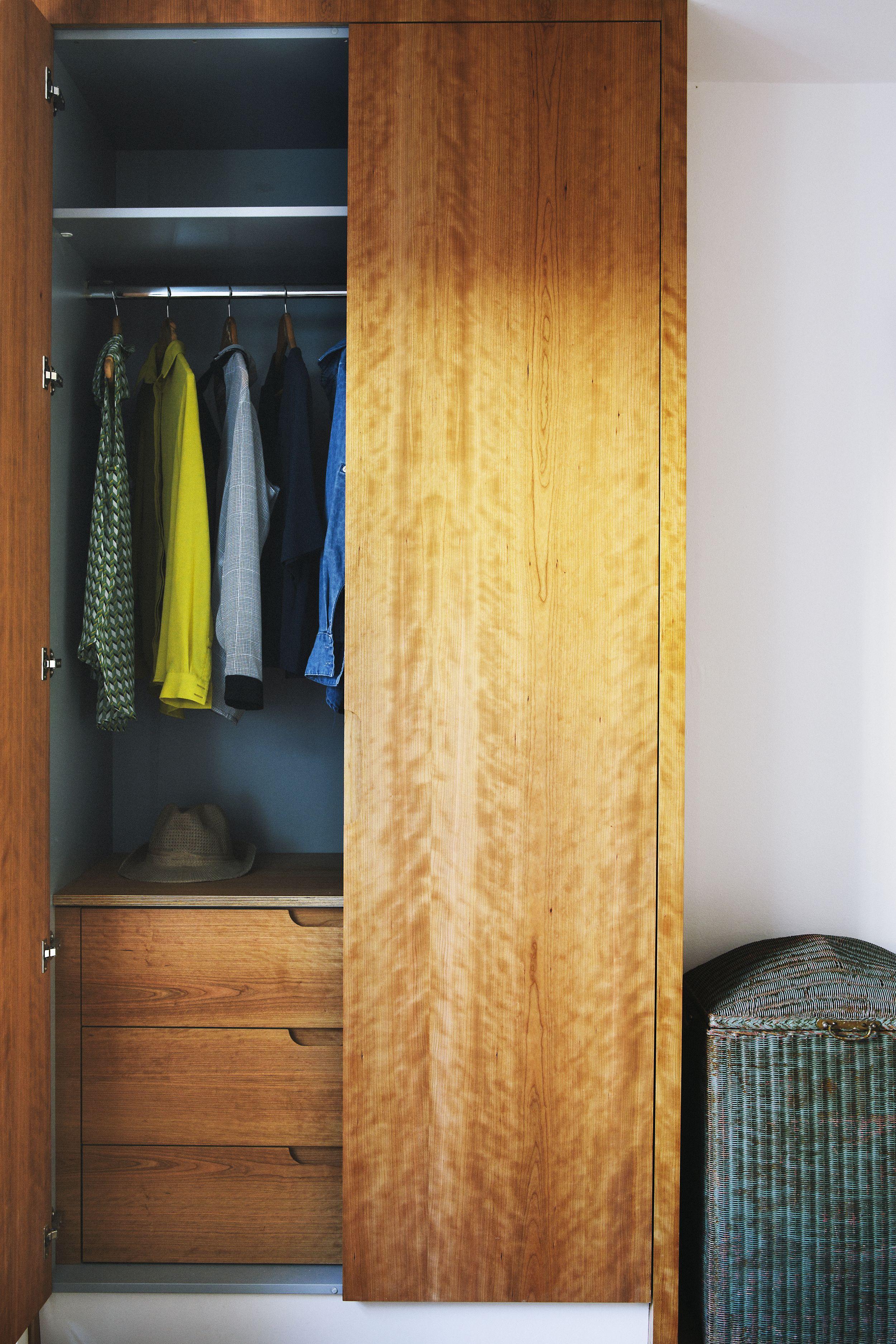 Wardrobe made from cherry-veneered birch ply. | Painted ...