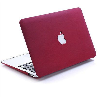 newest 2ab43 2926d New Dark Red Matte Hard Case Shell For Macbook Pro 13