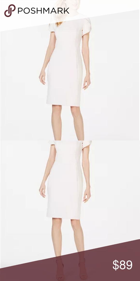 Nwt Calvin Klein Ivory Sheath Dress In 2020 Dresses Tulip Dress Dresses For Work