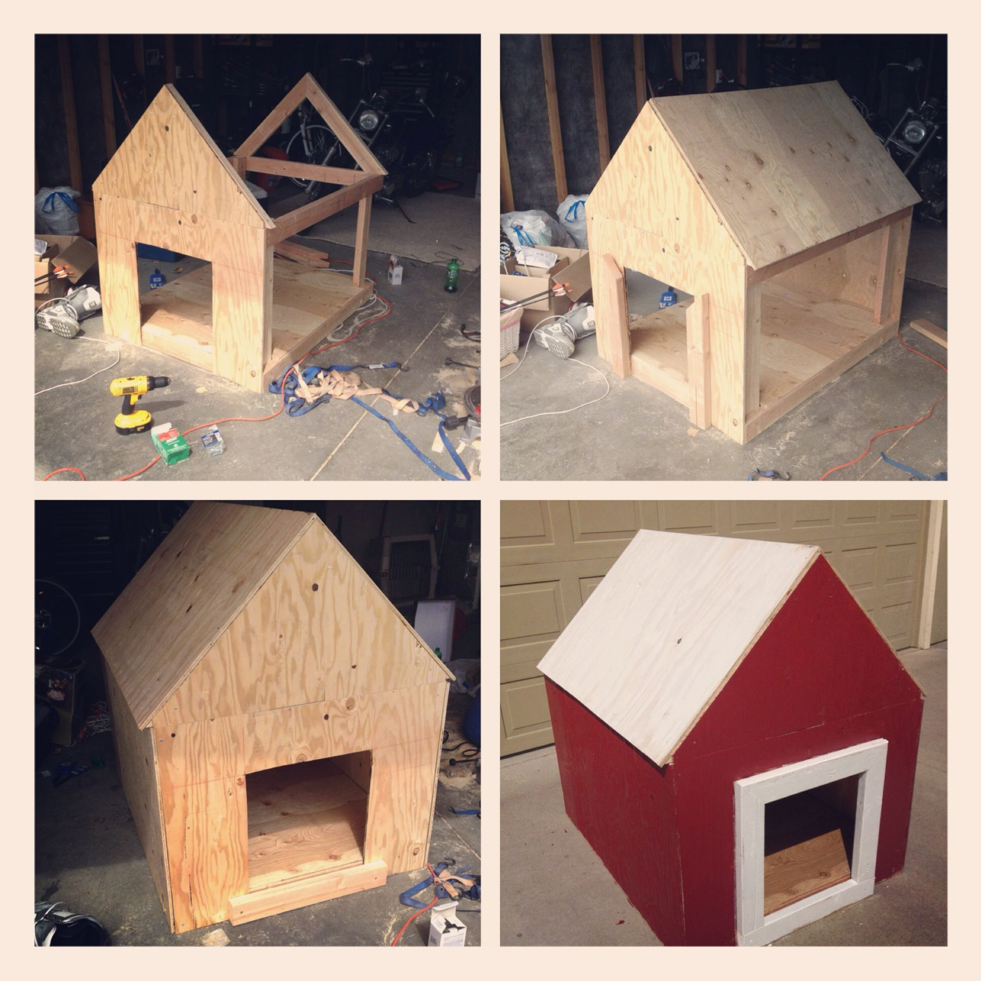 Barn Style Dog House Do It Yourself Minou Cabane
