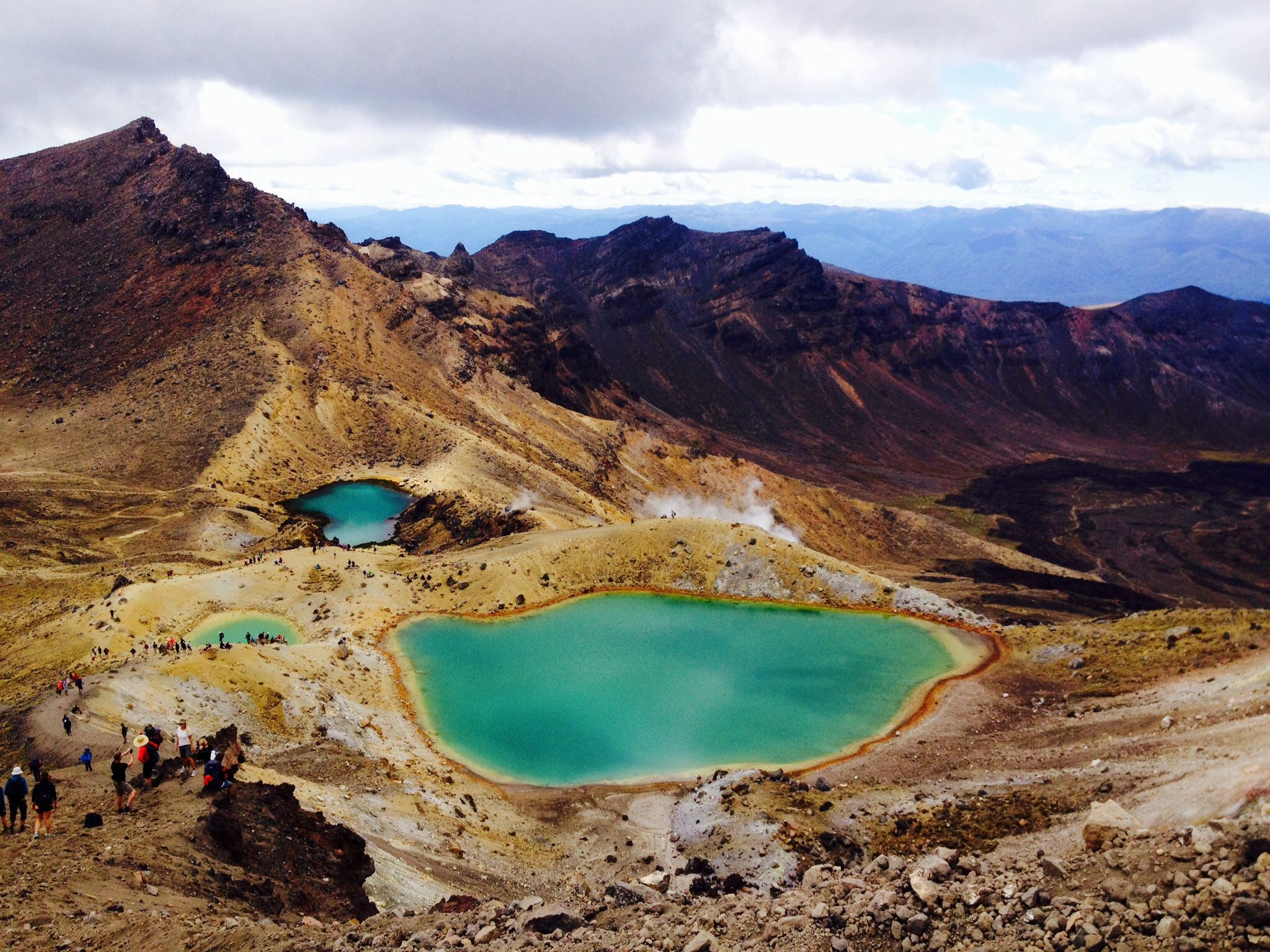 Tongariro Crossing New Zealand, on our North Island Kauri trip #KauriTrip. Another item on many travellers New Zealand (Kiwi) bucket list! #NewYearAdventure #travel #travelbucketlist