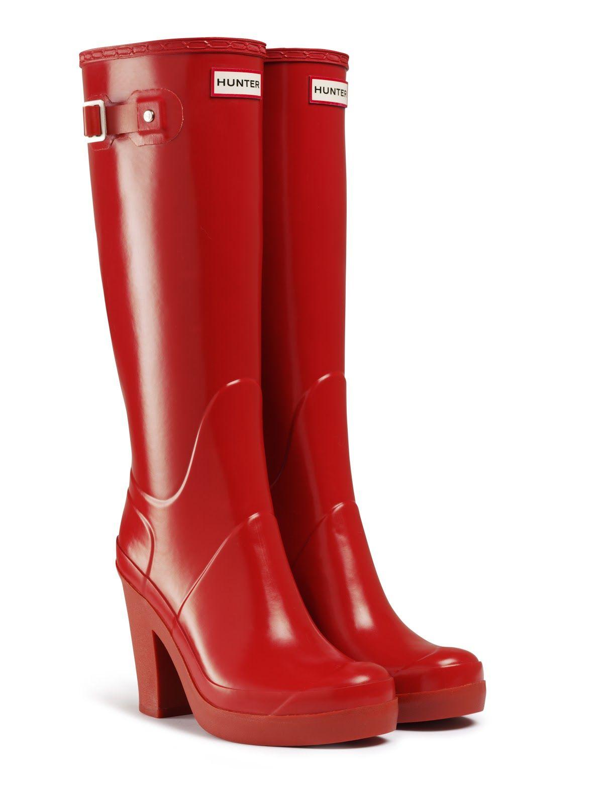 Un buen día para disfrutarlar :) Hunter boots con tacón