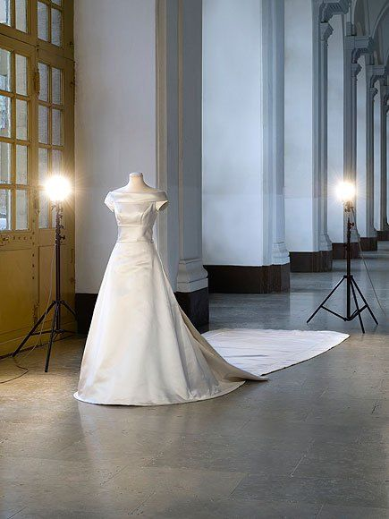 Crown Princess Victoria's wedding dress from 2010, created by designer Pär Engsheden.