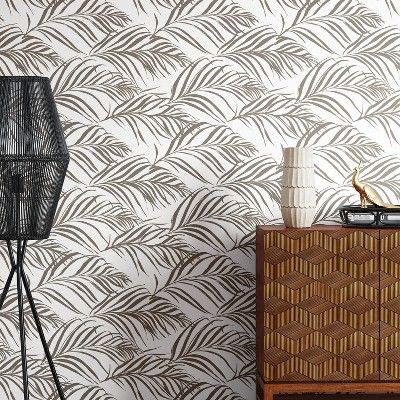 Palma Peel & Stick Removable Wallpaper Silver Opalhouse