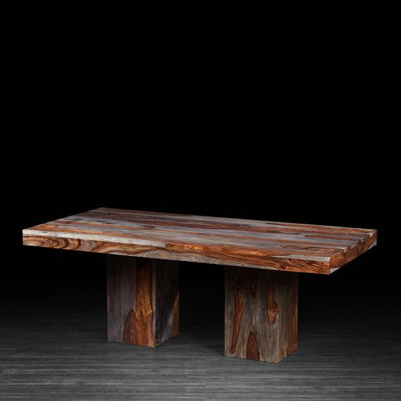dining table made of indian rosewood with large block legs 3 rh pinterest com