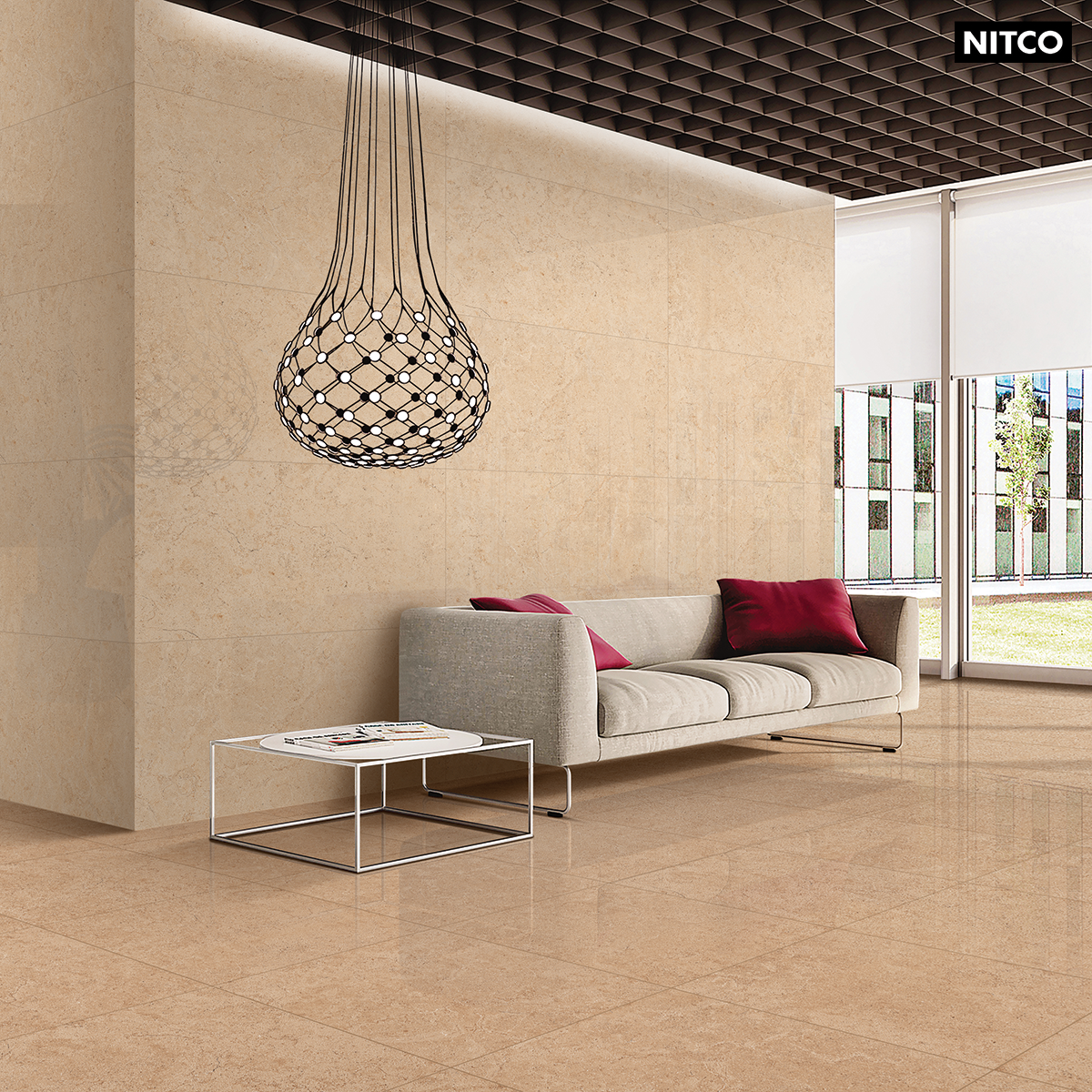 Tunis Coffee, Glossy finish, Size 600x1200 mm Floor