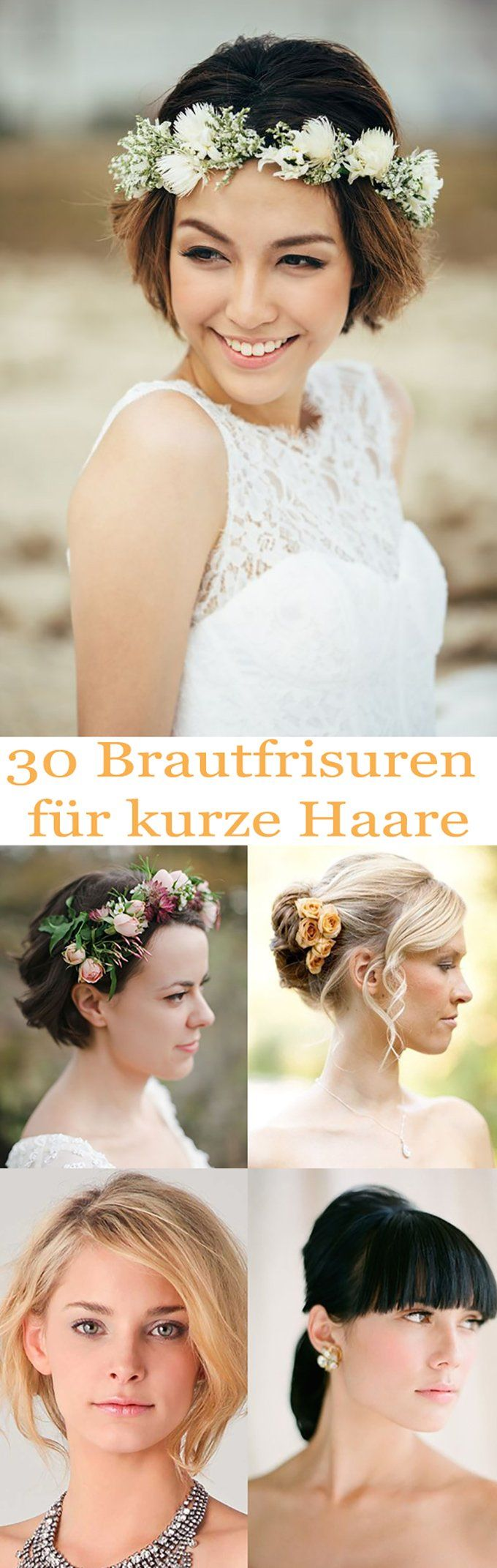 Die besten DIY Brautfrisuren für kurze Haare. Elegant, verspielt und ...