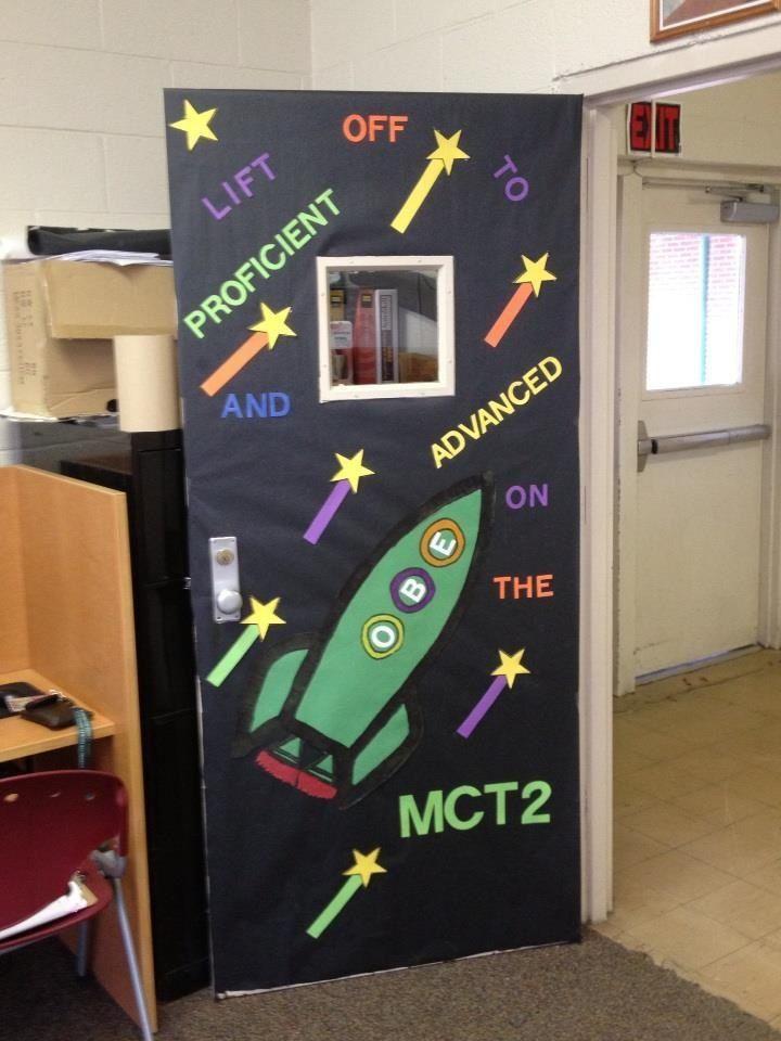 State Test Motivational Door Classroom Classroom