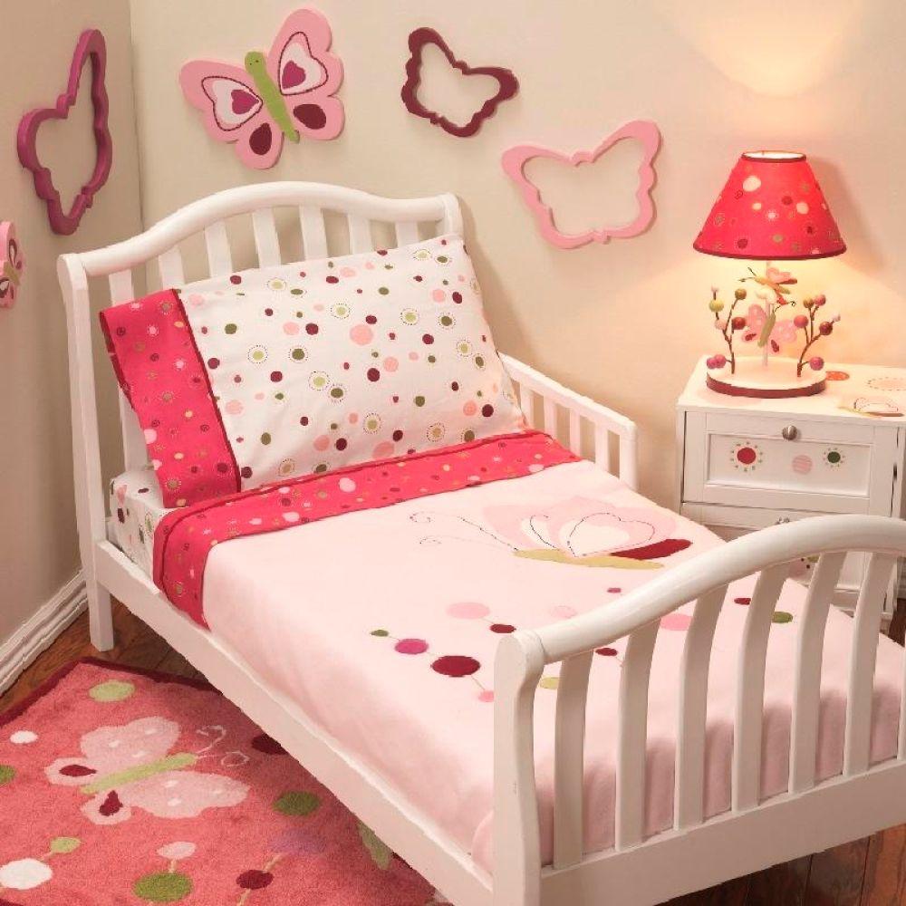 Kit de cama infantil Lambs & Ivy Raspberry Swirl 4 piezas Rosa ...