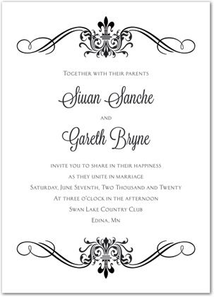 Victorian Invitation Template  Black Victorian Ornamental