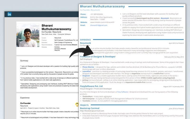 Cv Template Linkedin Cvtemplate Linkedin Template Beautiful Resume Resume Builder Downloadable Resume Template